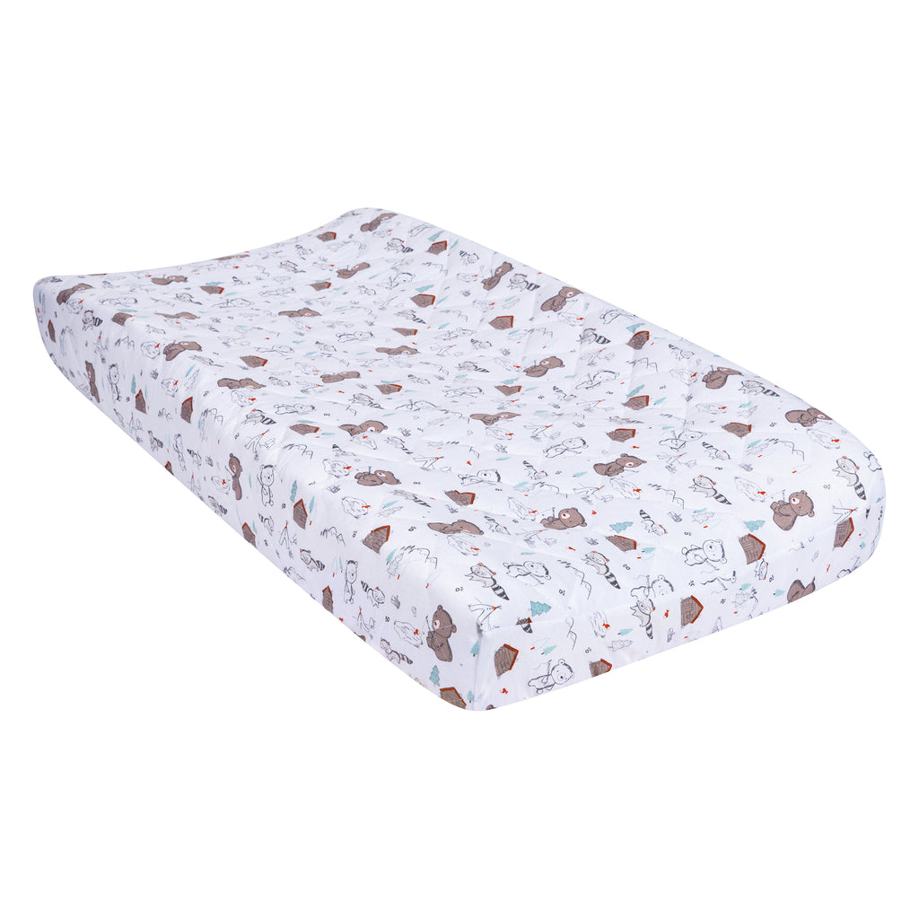 Fishing Bears Quilted Jersey Changing Pad Cover