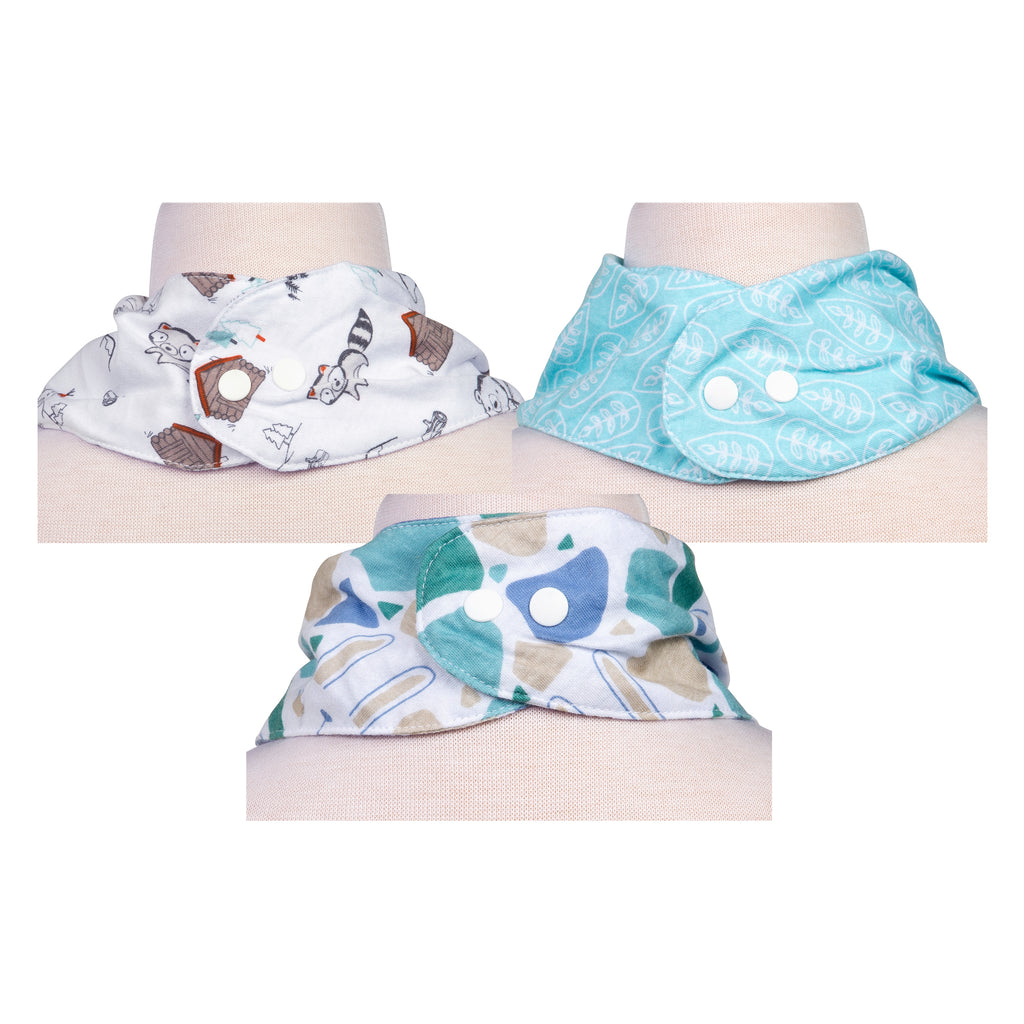 Little Camper 3 Pack Jersey Bandana Bib Set Trend Lab, LLC