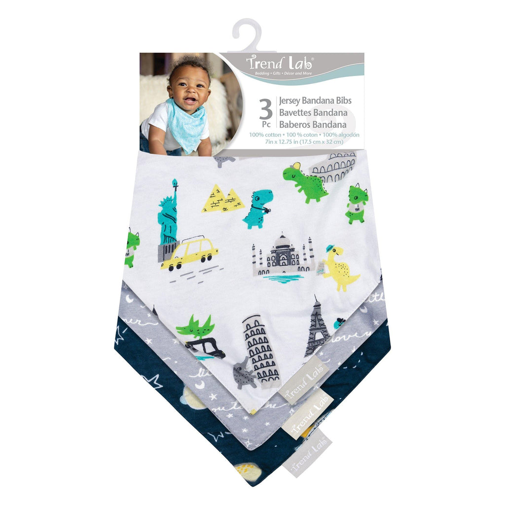Baby Traveler 3 Pack Jersey Bandana Bib Set Trend Lab, LLC