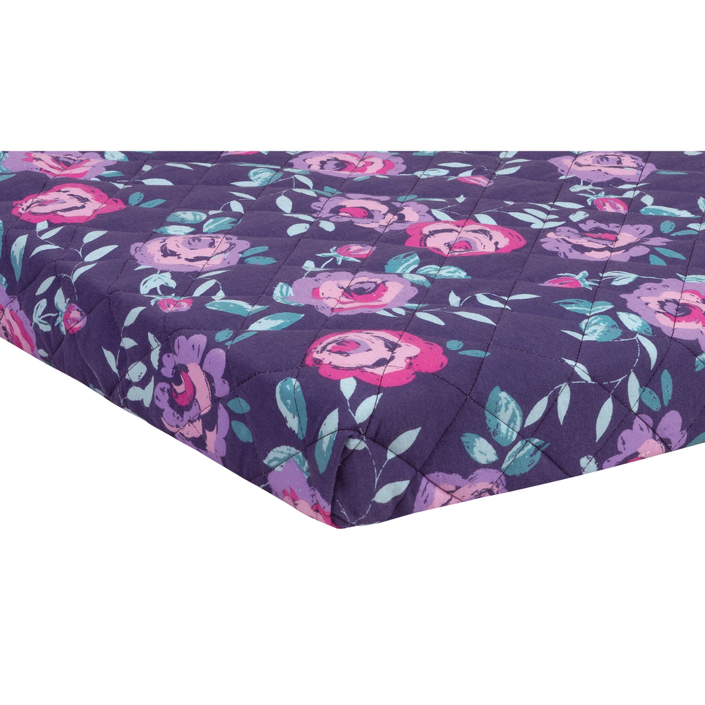 Flora Quilted Jersey Playard Sheet