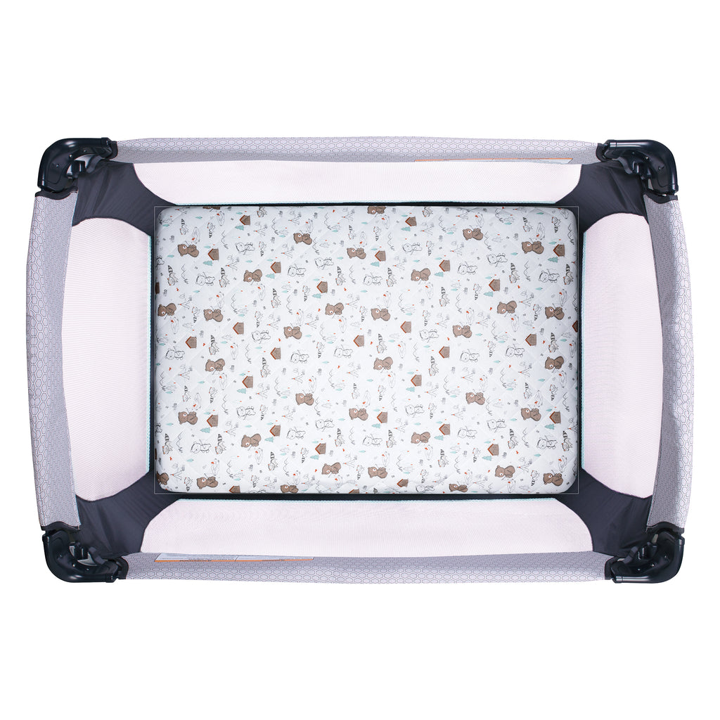 Fishing Bears Quilted Jersey Playard Sheet Trend Lab, LLC