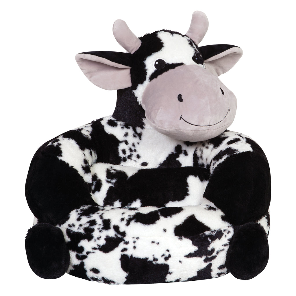 Children's Plush Cow Character Chair