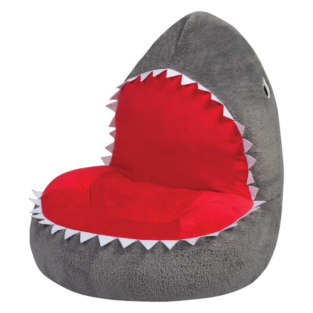 Children's Plush Shark Character Chair