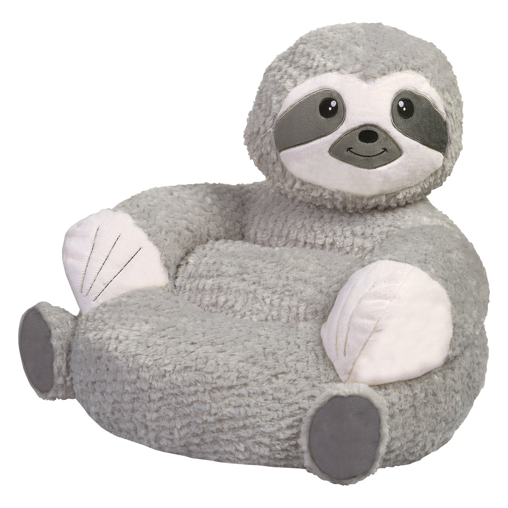 Children's Plush Sloth Character Chair