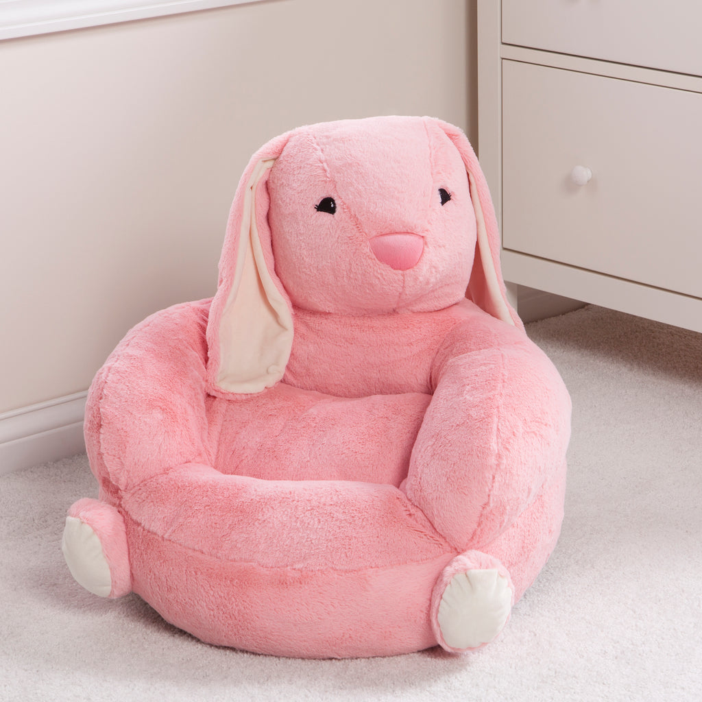 Children's Plush Bunny Character Chair