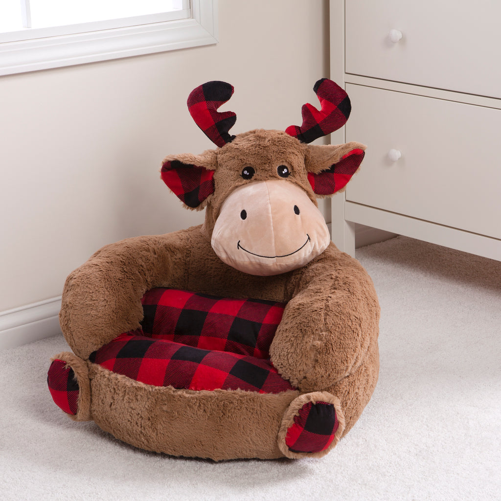 Children's Plush Buffalo Check Moose Character Chair Trend Lab, LLC