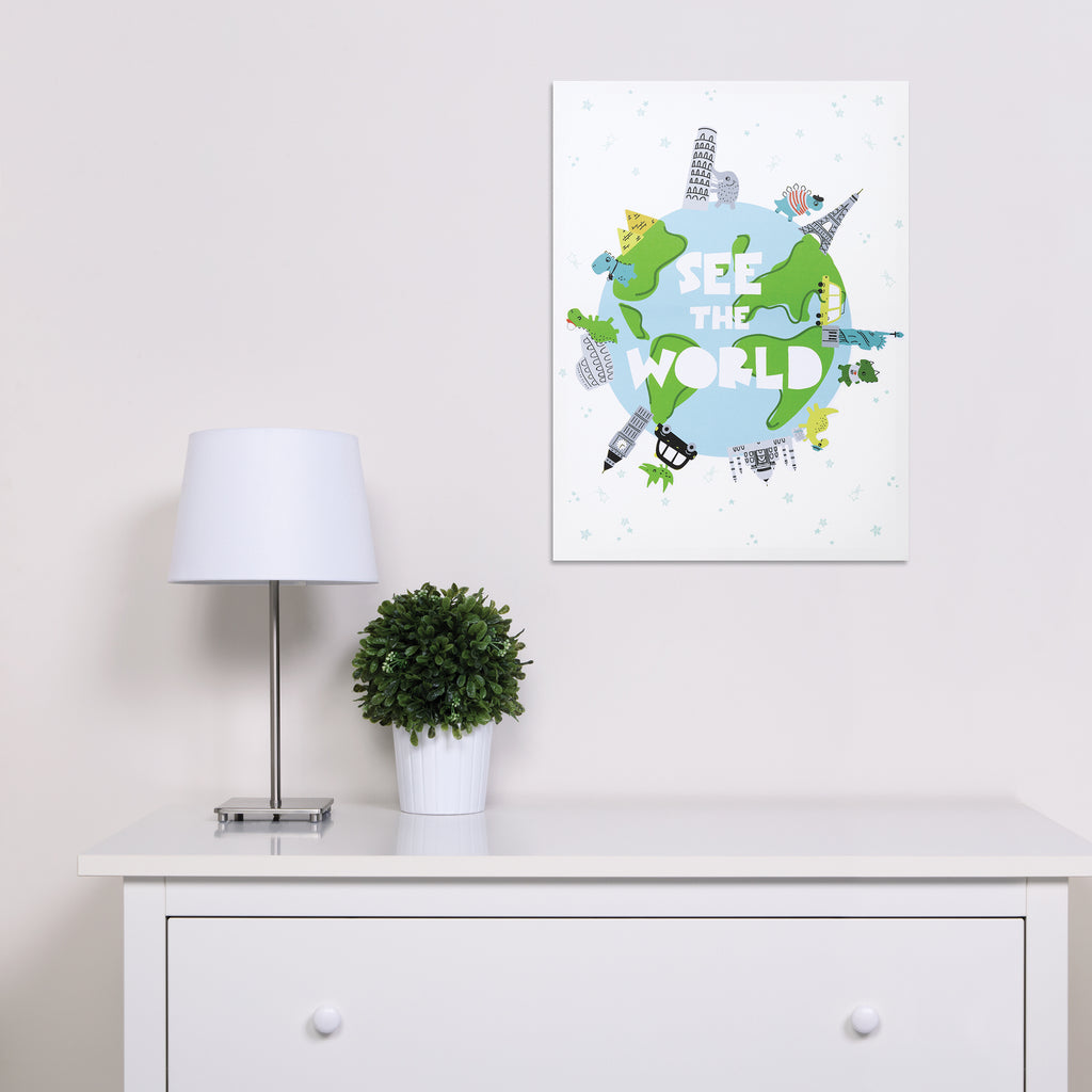 See the World Dinosaurs Canvas Wall Art Trend Lab, LLC