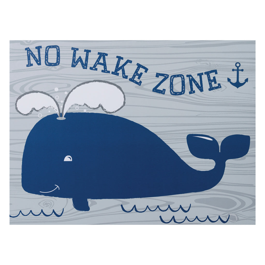 No Wake Zone Canvas Wall Art Trend Lab, LLC