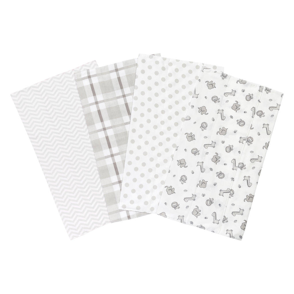 Safari Chevron 4 Pack Flannel Burp Cloth Set103449$12.99Trend Lab
