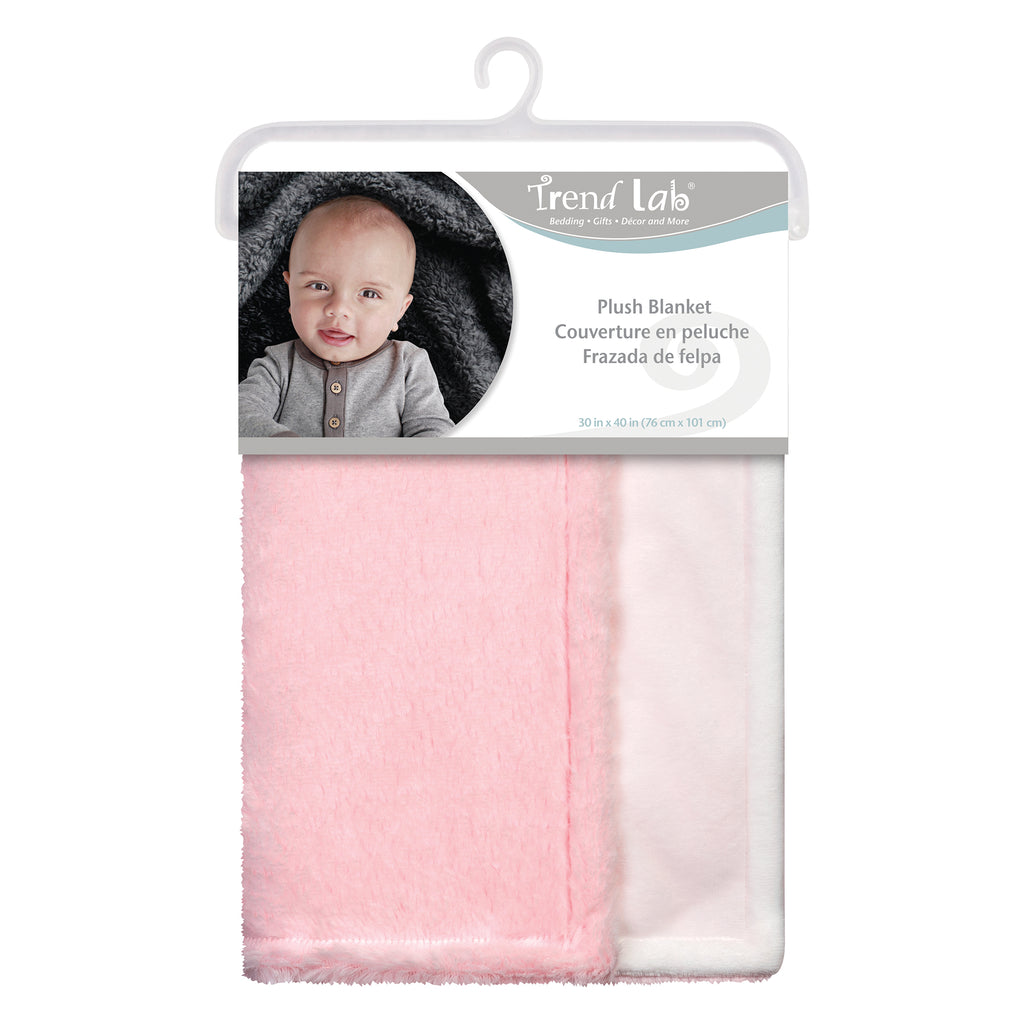 Pink Plush Baby Blanket Bedding And Accessories Trend Lab Llc