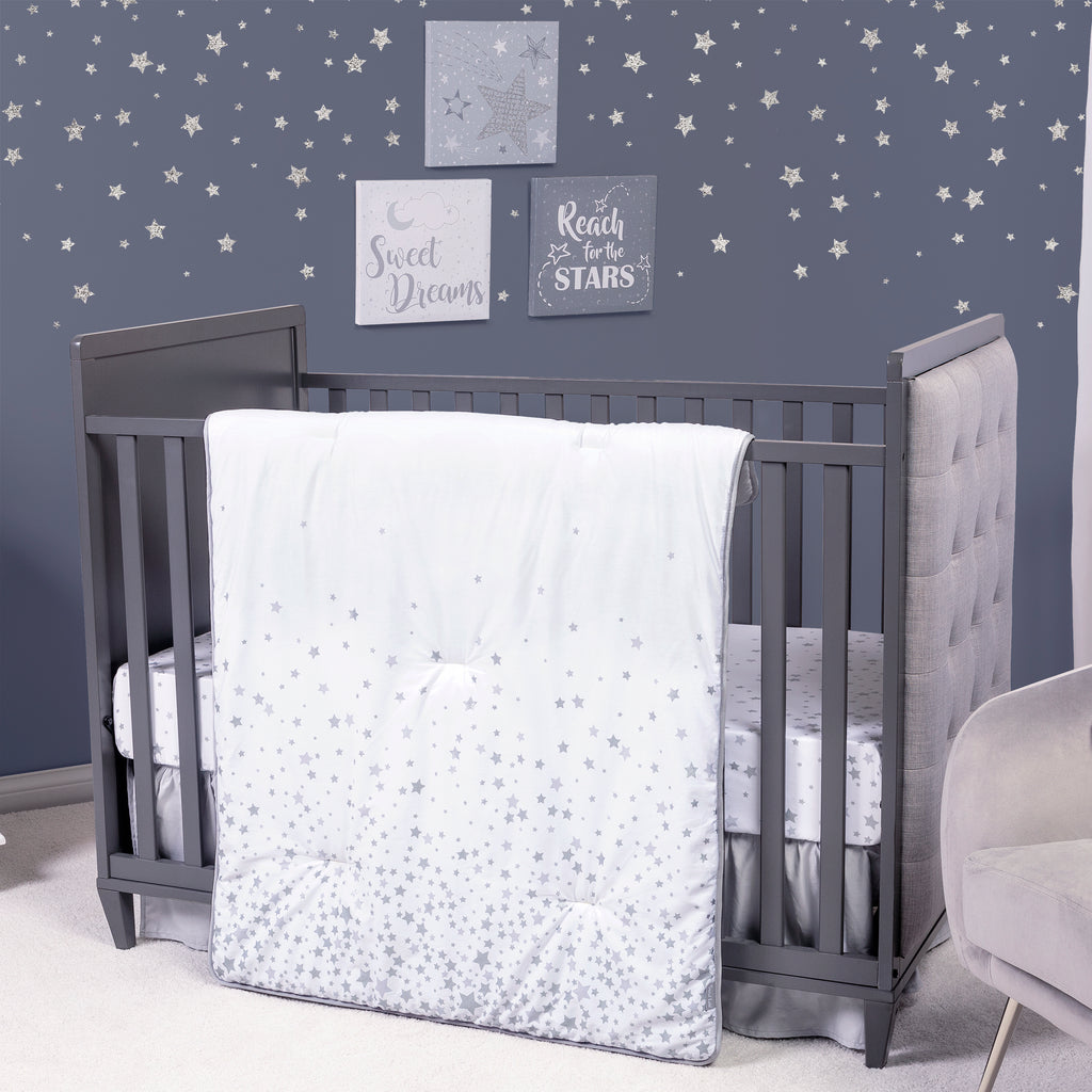 Sprinkle Stars 3 Piece Crib Bedding Set
