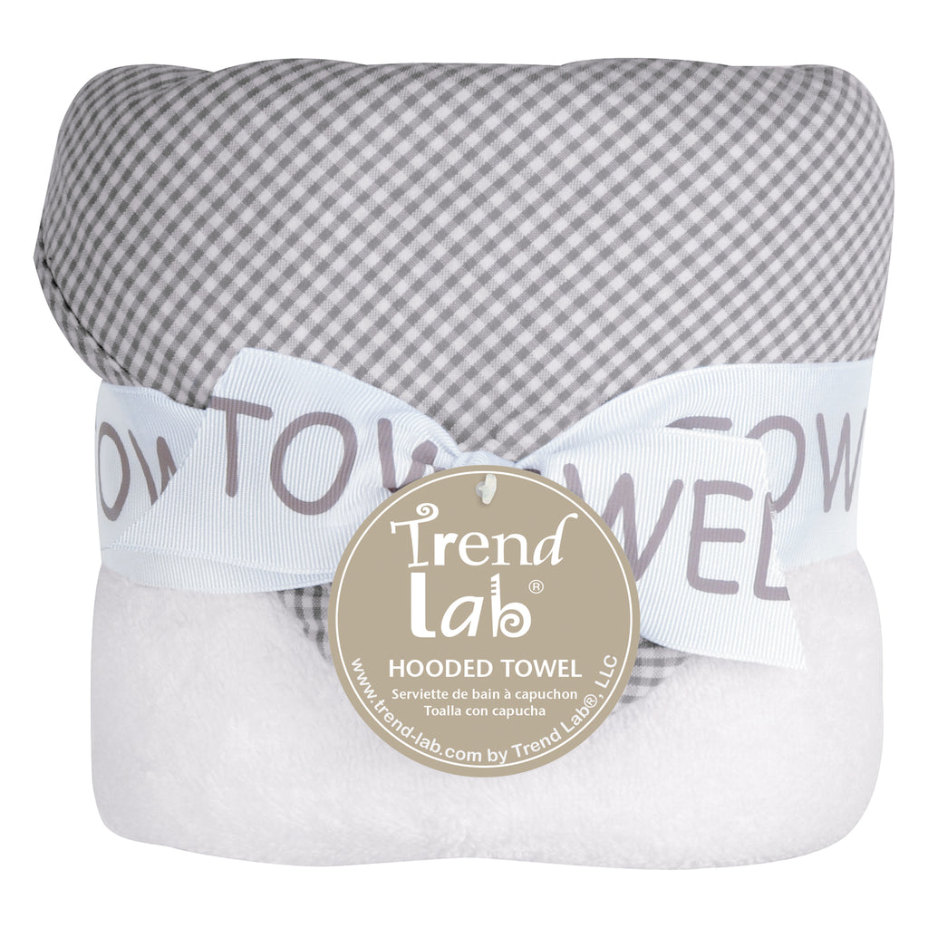 Gingham Seersucker Gray Deluxe Hooded Towel103509$14.99Trend Lab