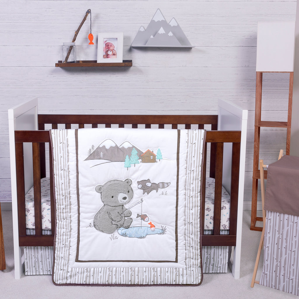 Gone Fishing 3 Piece Crib Bedding Set Trend Lab, LLC