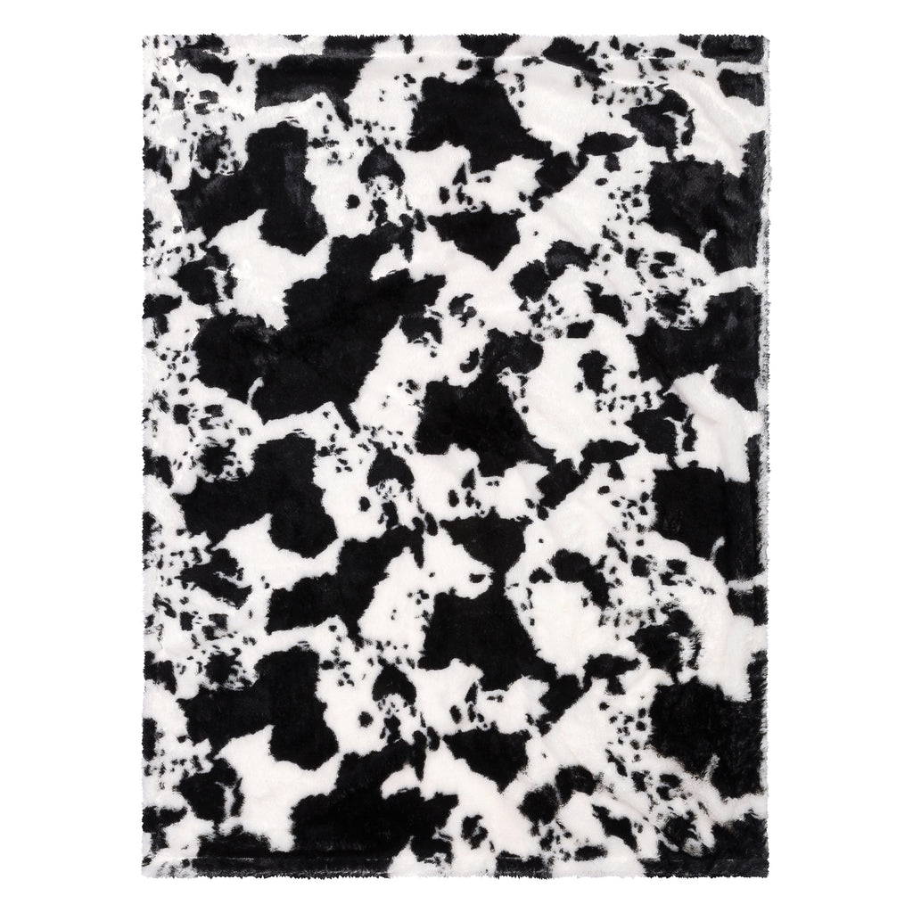 Cow Print Plush Baby Blanket