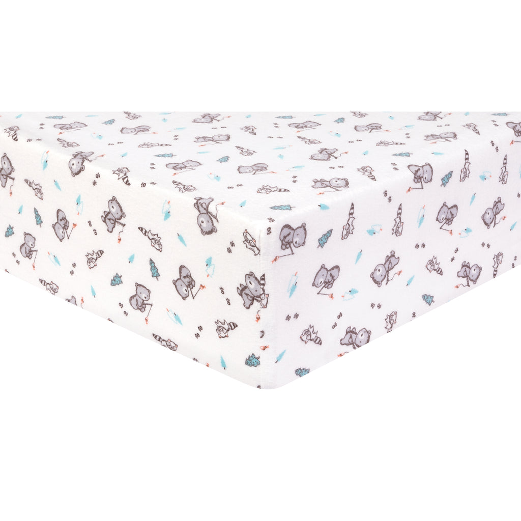Gone Fishing Deluxe Flannel Fitted Crib Sheet Trend Lab, LLC