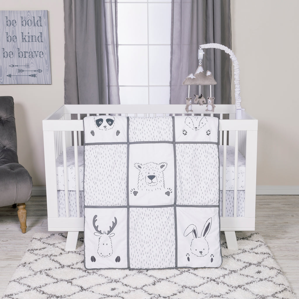 Peek-a-Boo Forest 3 Piece Crib Bedding Set Trend Lab, LLC