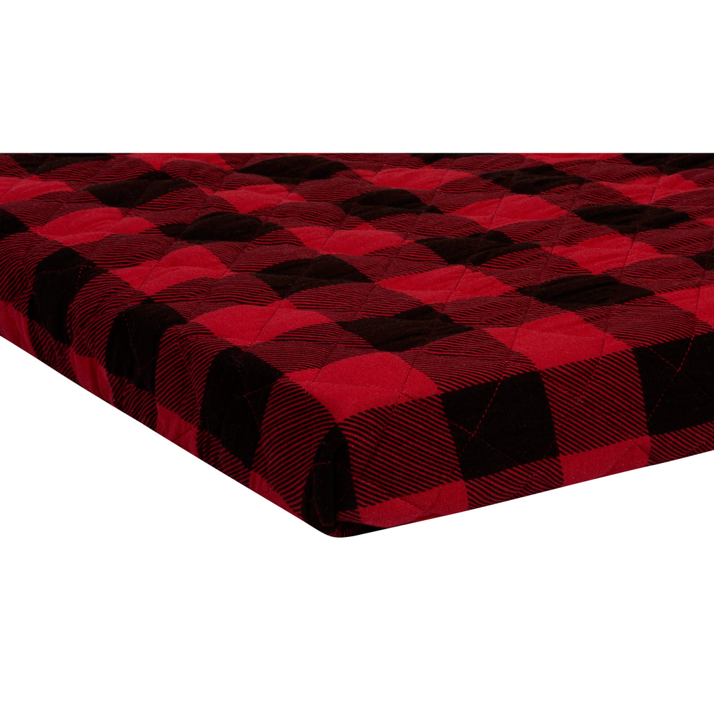 Buffalo Check Quilted Jersey Playard Sheet