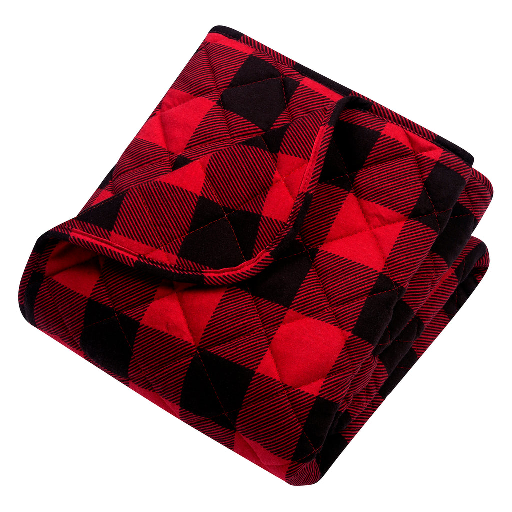 Buffalo Check Reversible Jersey Crib Quilt