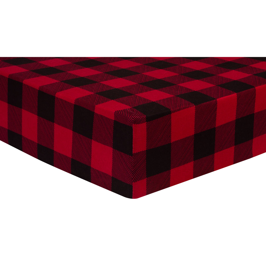 Buffalo Check Jersey Fitted Crib Sheet Trend Lab, LLC