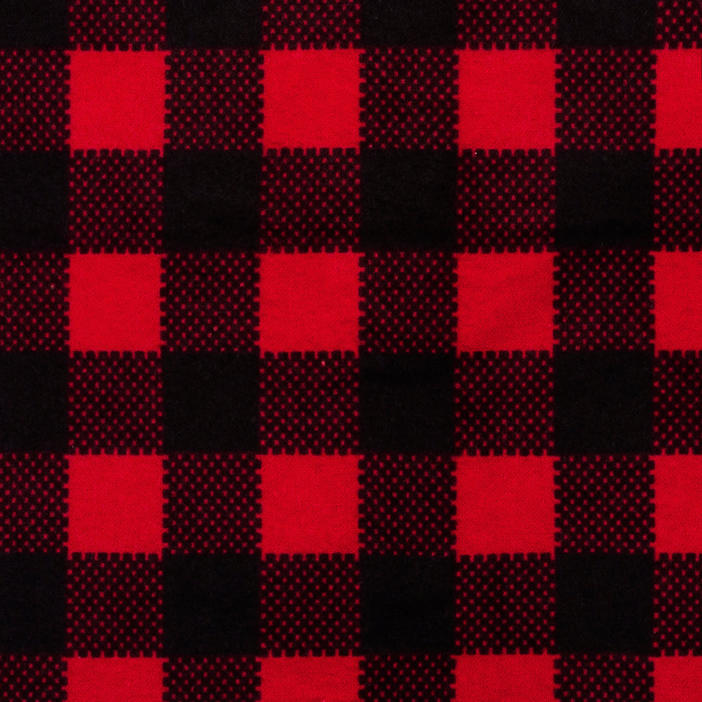 Red And Black Buffalo Check Deluxe Flannel Fitted Crib