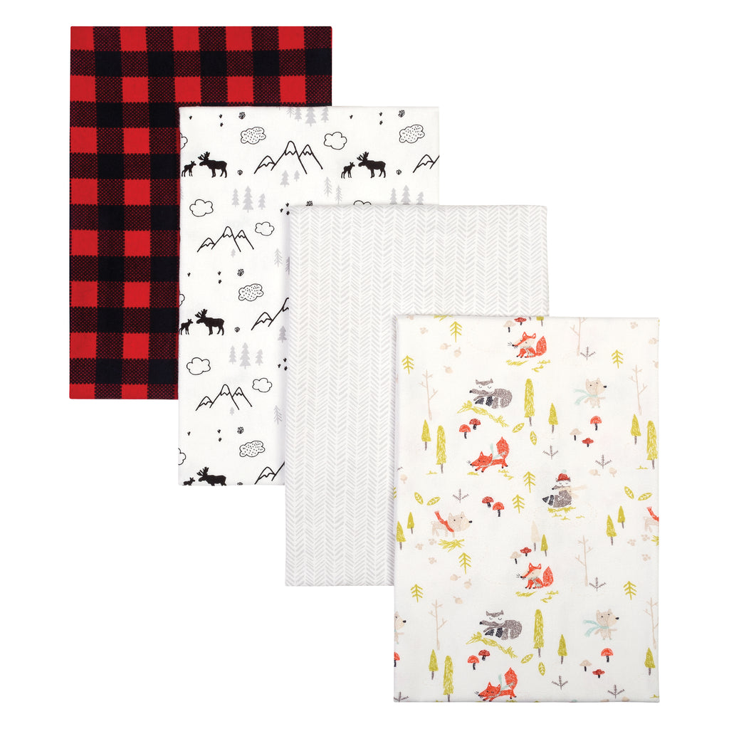 Buffalo Check Woodland 4 Pack Flannel Blankets Trend Lab, LLC