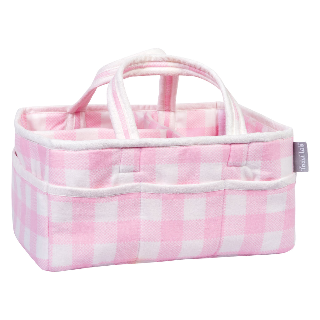 Pink and White Buffalo Check Storage Caddy103580$24.99Trend Lab