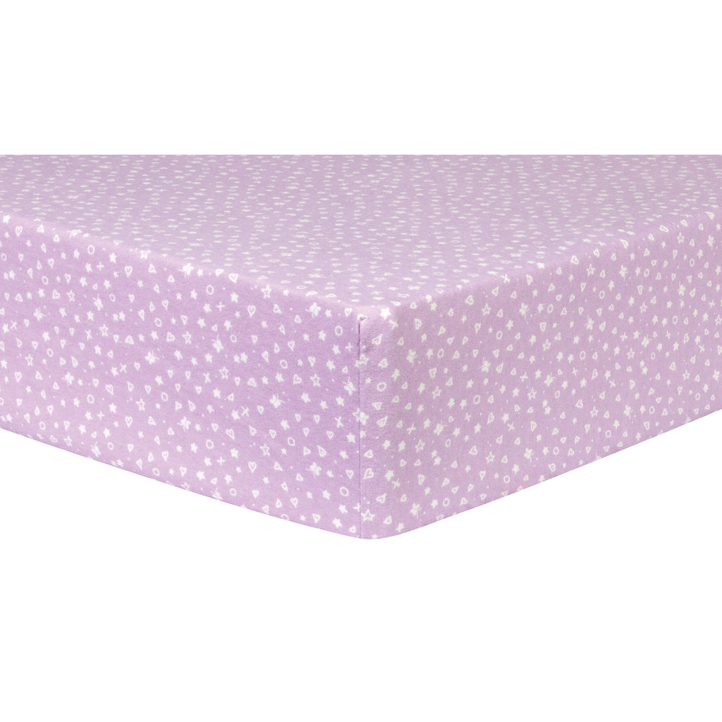 Stars, Hearts and Butterflies Deluxe Flannel Fitted Crib Sheet103620$17.99Trend Lab