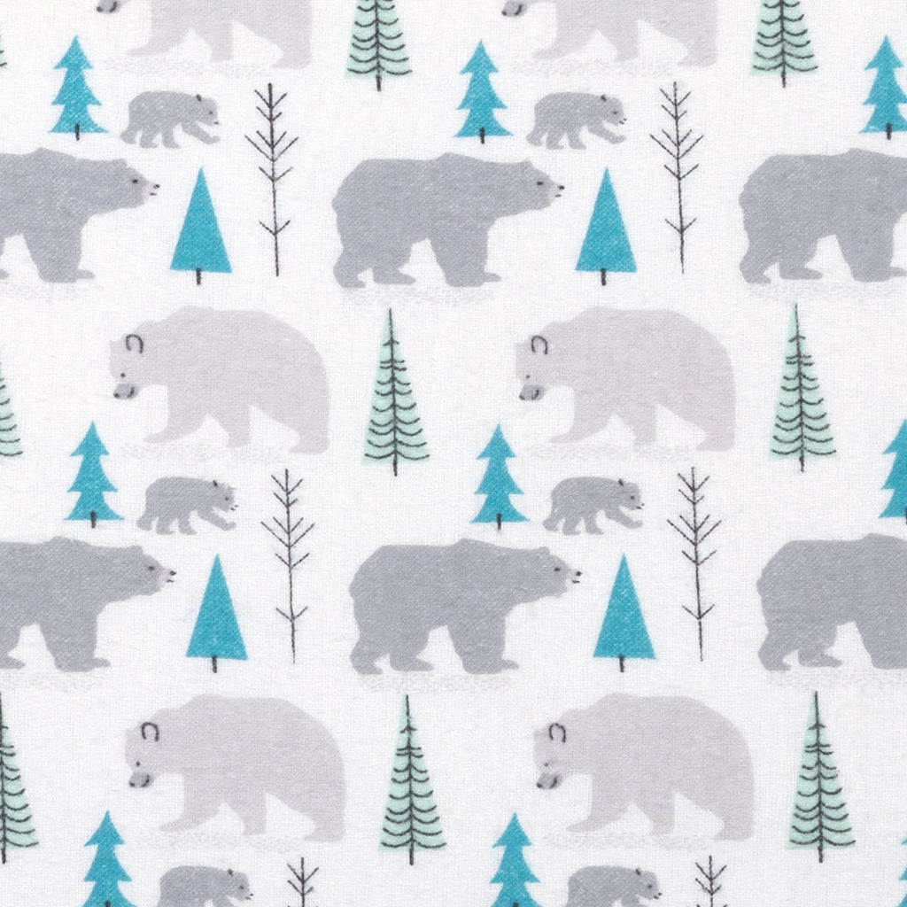 Gray Bears Deluxe Flannel Fitted Crib Sheet Trend Lab, LLC