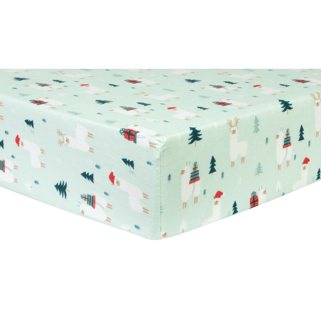 Fa La Llama Deluxe Flannel Fitted Crib Sheet103626$17.99Trend Lab