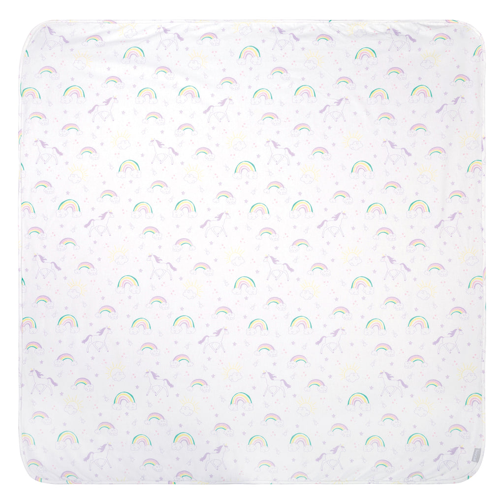 Unicorn Rainbow Jumbo Deluxe Flannel Swaddle Blanket Trend Lab, LLC