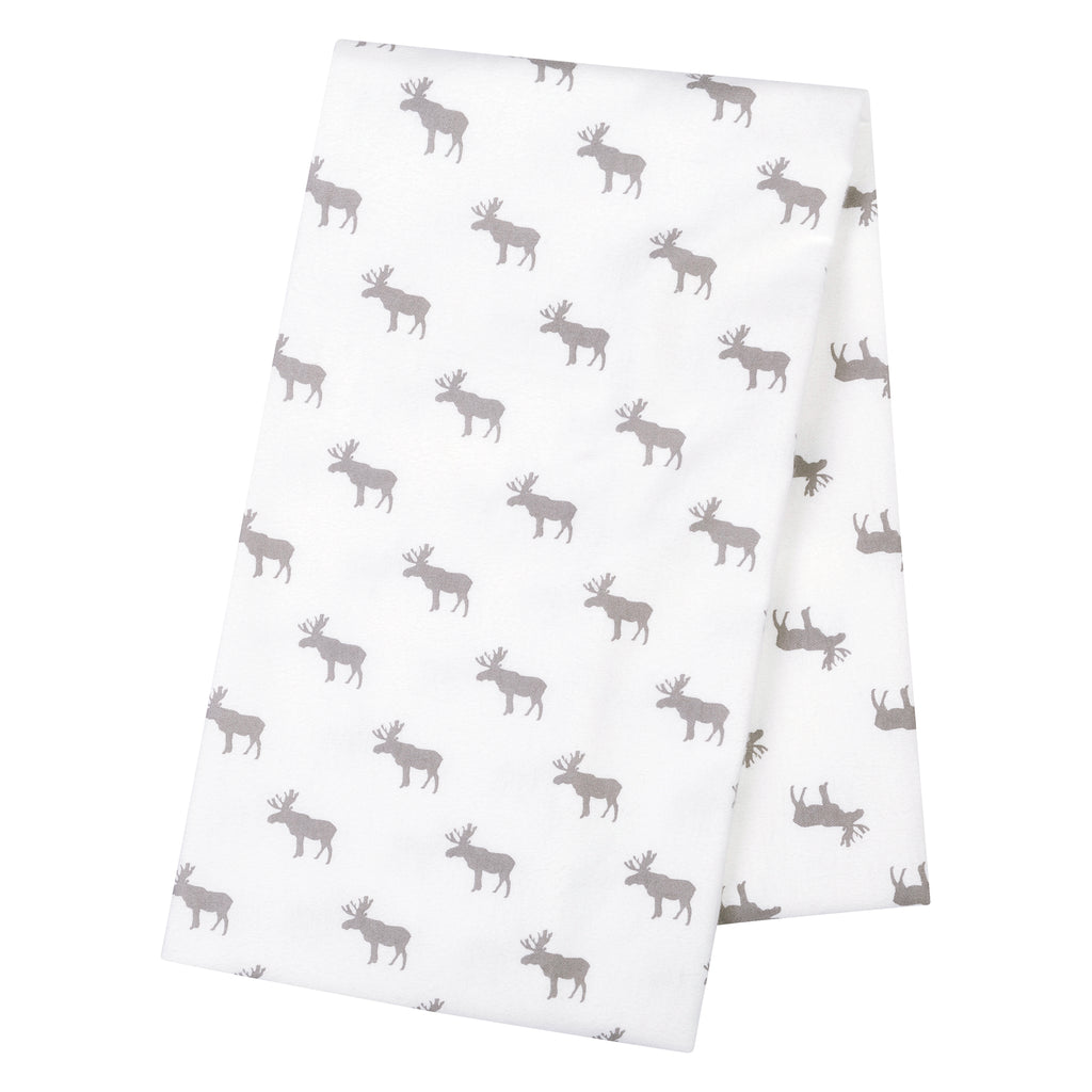 Moose Silhouettes Jumbo Deluxe Flannel Swaddle Blanket Trend Lab, LLC