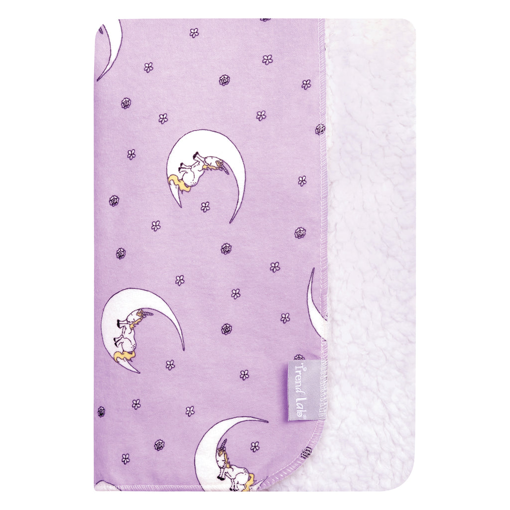 Unicorn Moon Flannel and Faux Shearling Baby Blanket103645$19.99Trend Lab
