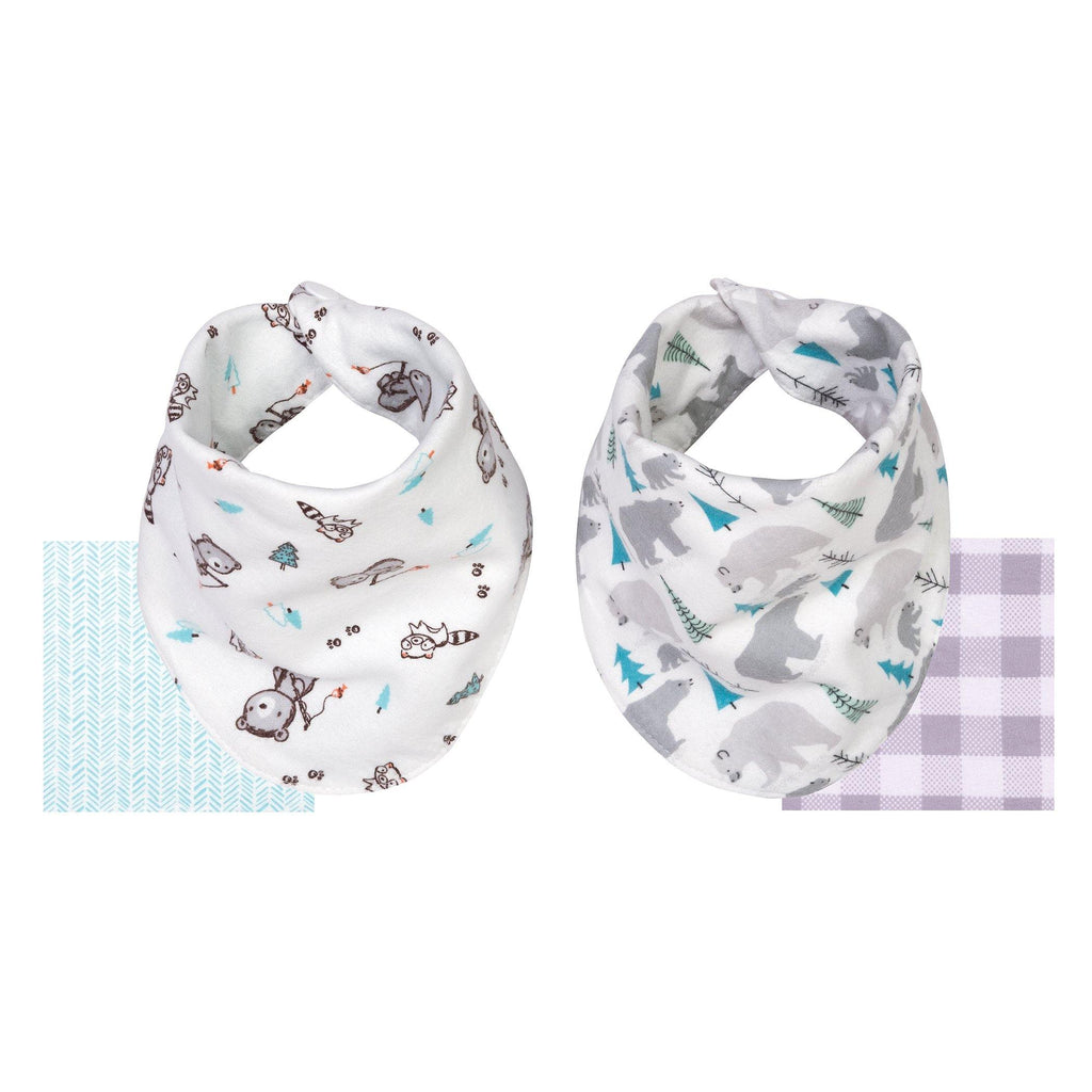 2-Pack Reversible 100% Cotton Flannel Bandana Bib - Bear & Buffalo Check103650$9.99Trend Lab
