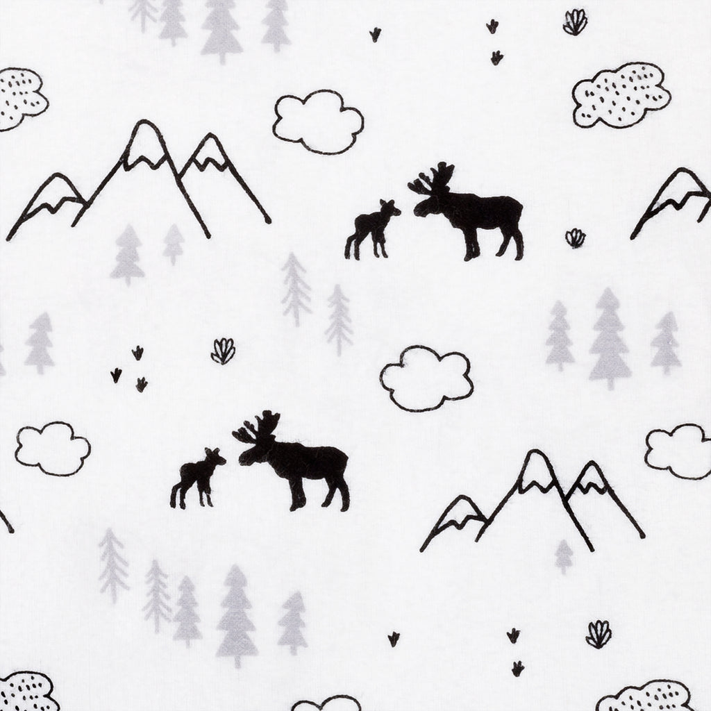 Lumberjack Moose Deluxe Flannel Fitted Crib Sheet103658$17.99Trend Lab