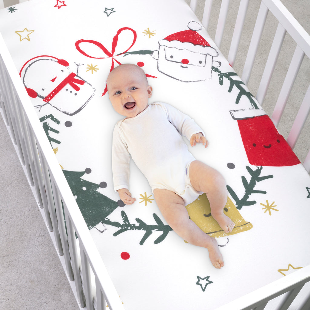 My Tiny Moments™ Jolly Wreath Flannel Photo Op Fitted Crib Sheet103659$19.99Trend Lab