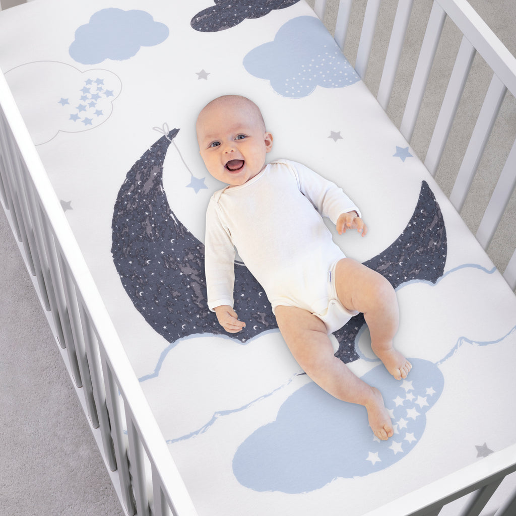 My Tiny Moments™ Over the Moon Flannel Photo Op Fitted Crib Sheet103673$19.99Trend Lab