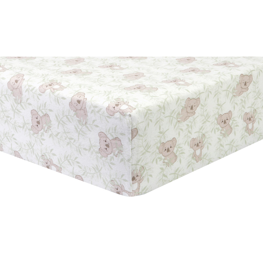 Koala Vines Deluxe Flannel Crib Sheet103765$17.99Trend Lab