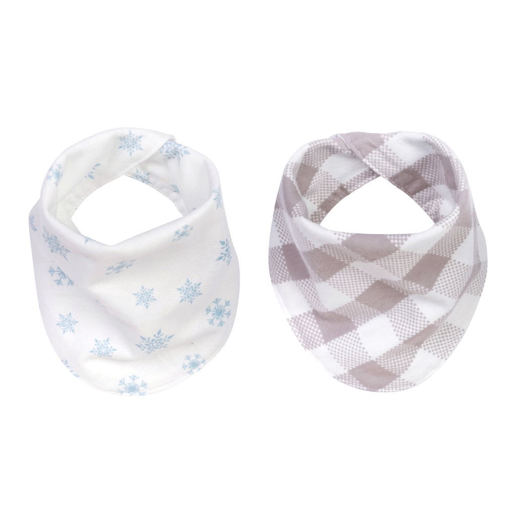 Igloo Pals 2-Pack Flannel Bandana Reversible Bib Set by Trend Lab