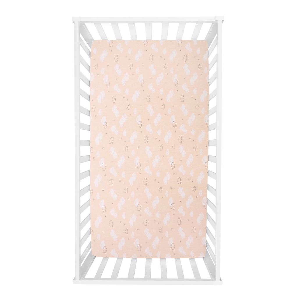 Cloud Sprinkles Deluxe Flannel Crib Sheet