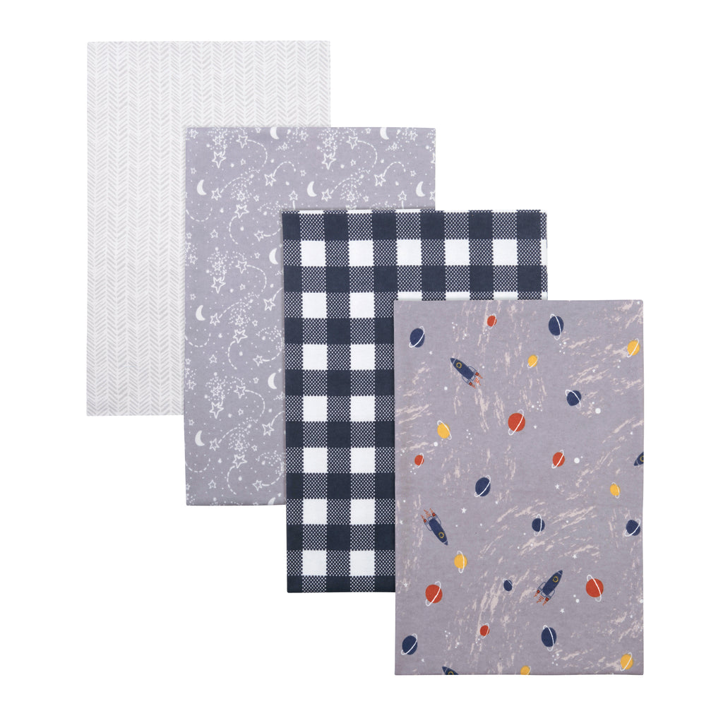 Outer Space 4-Pack Flannel Receiving Blankets by Trend Lab103791$14.99Trend Lab