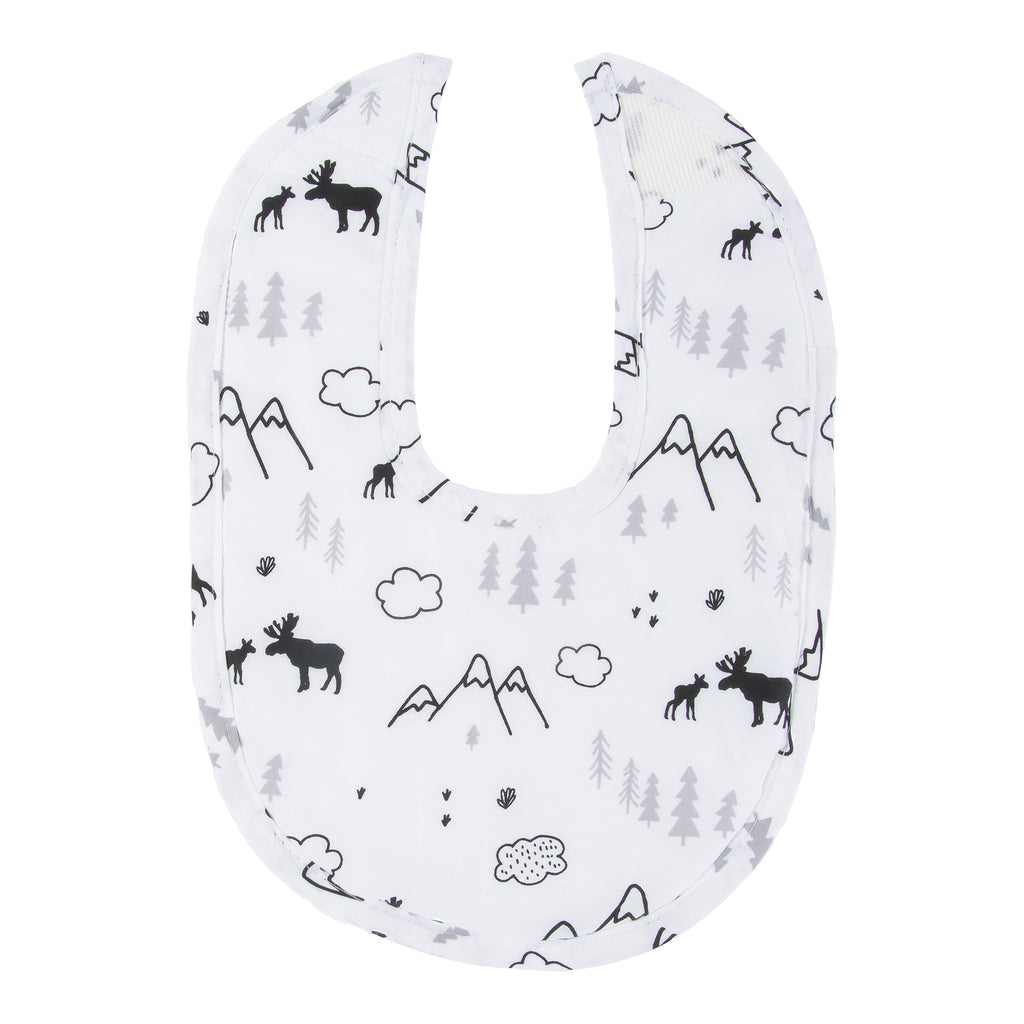 Moose & Mountains White Bib