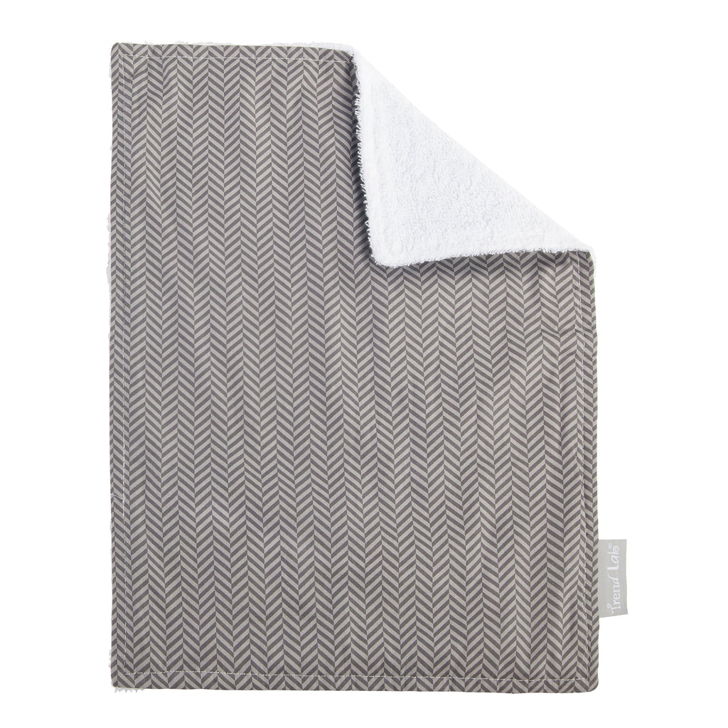 Gray Patterned Burp Cloth