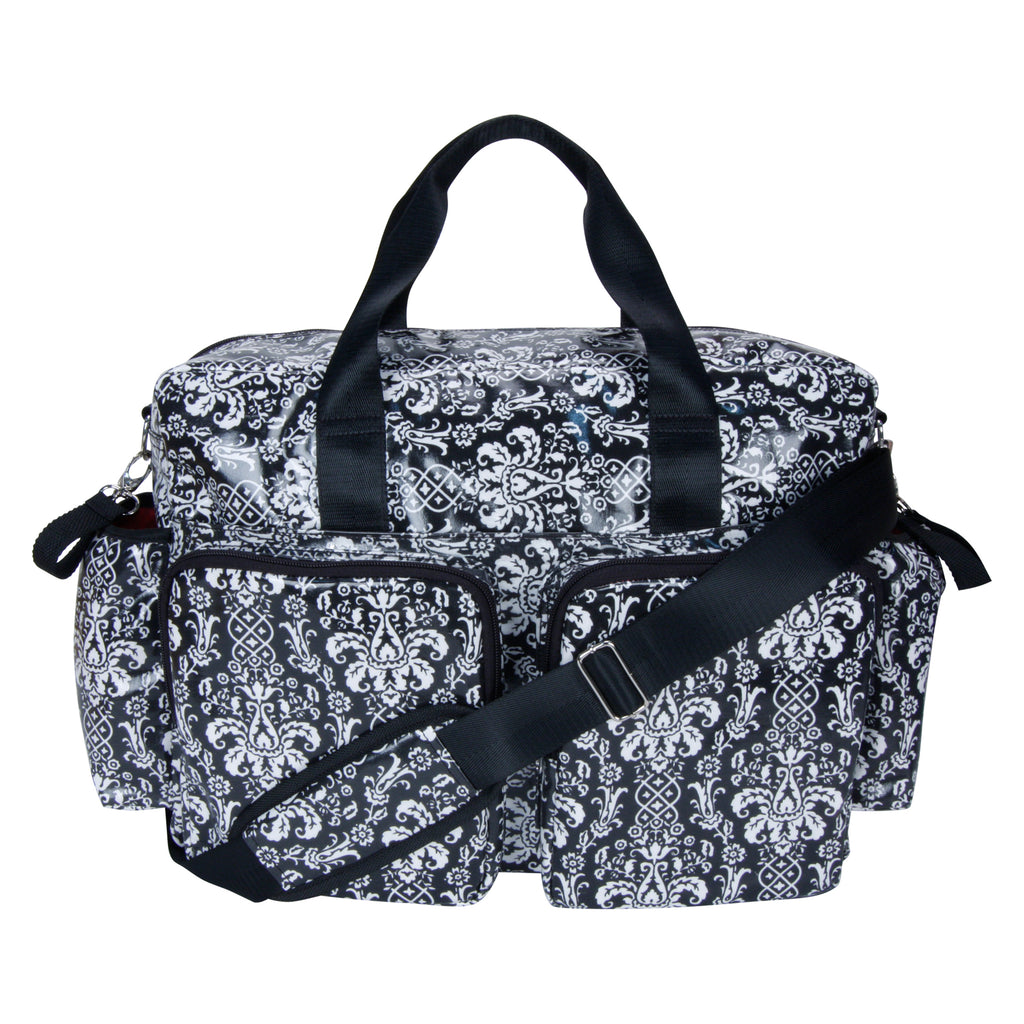 Midnight Fleur Damask Deluxe Duffle Style Diaper Bag104329$44.99Trend Lab