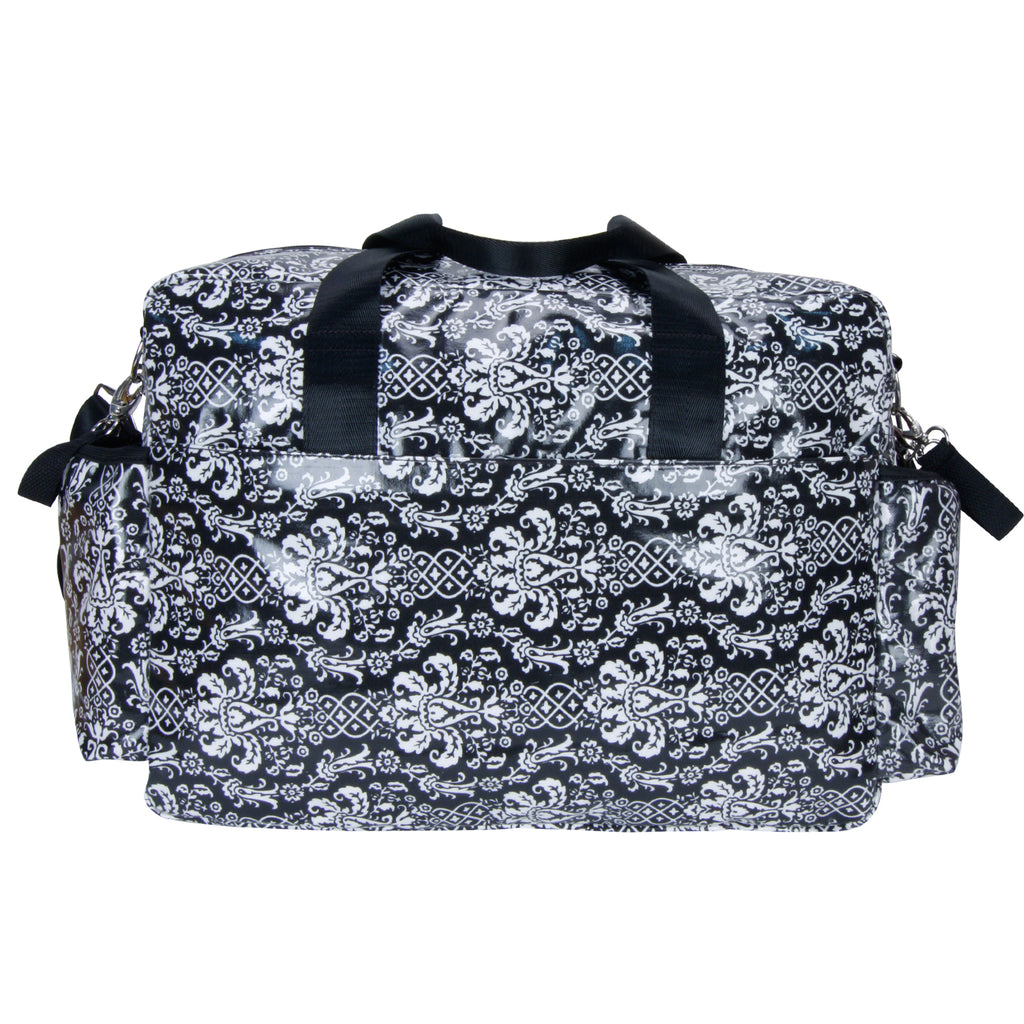 Midnight Fleur Damask Deluxe Duffle Style Diaper Bag Trend Lab, LLC