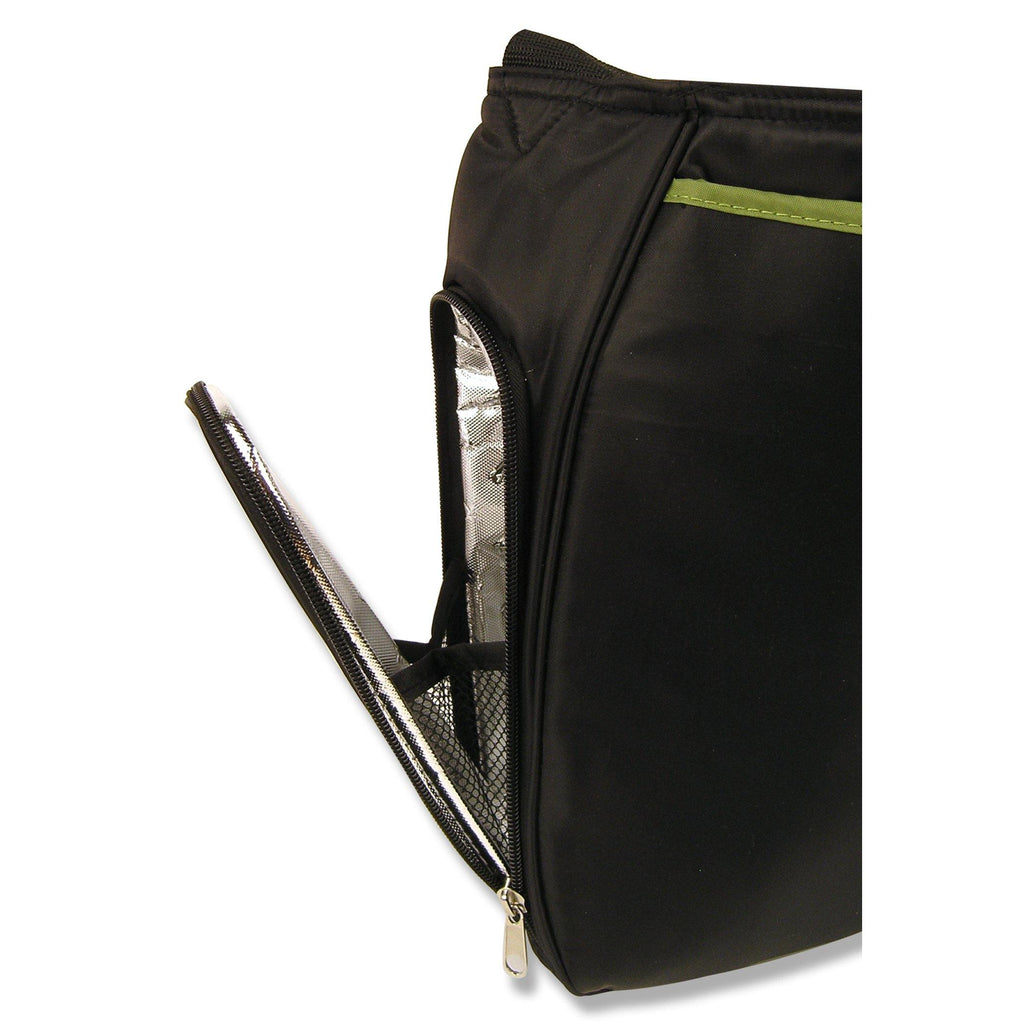 Black and Avocado Green Ultimate Hobo Style Diaper Bag