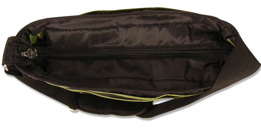 Black and Avocado Green Ultimate Hobo Style Diaper Bag Trend Lab, LLC
