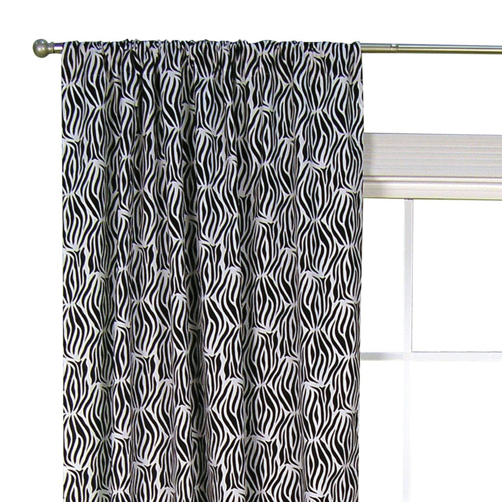 Black and White Zebra Window Drape