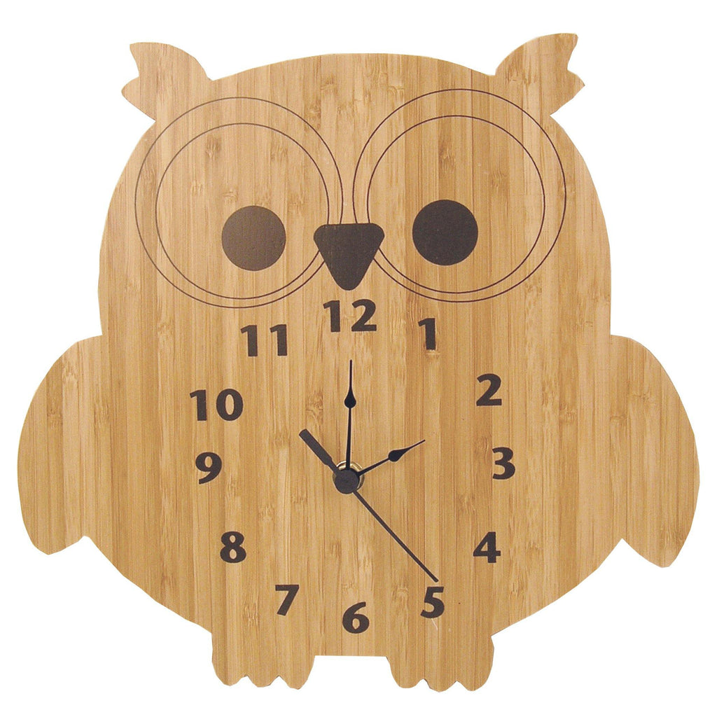 Bamboo-Owl Wall Clock Trend Lab, LLC