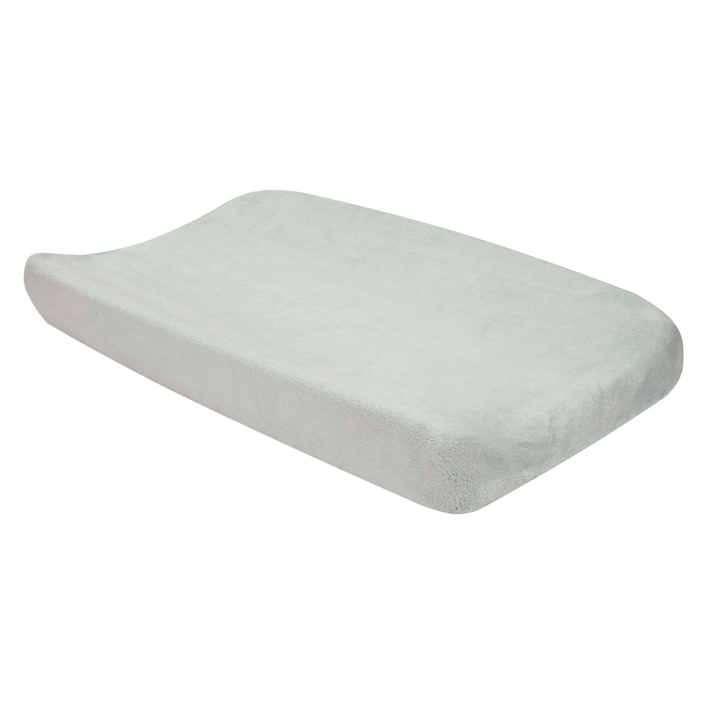 Gray Plush Changing Pad Cover Trend Lab, LLC