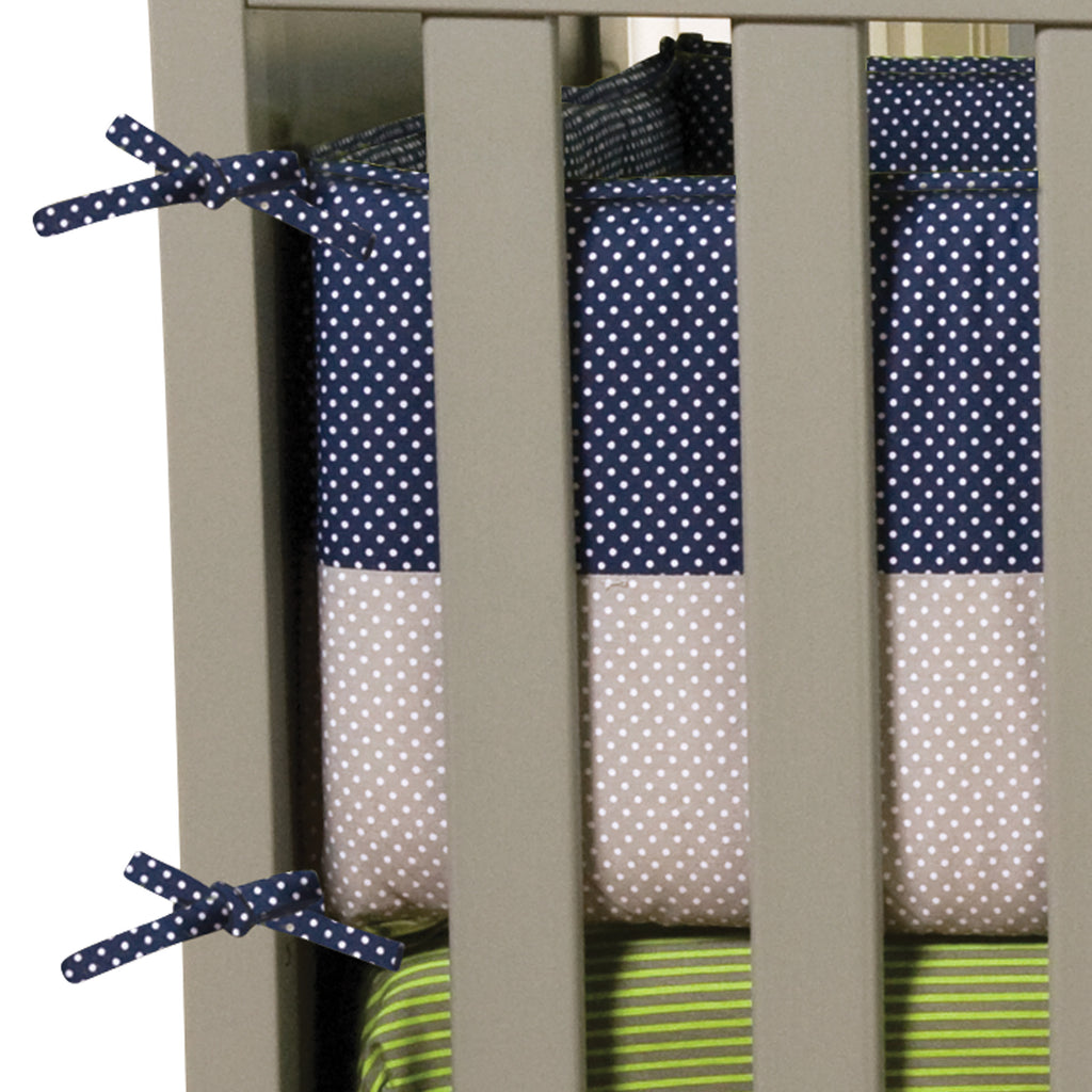 Perfectly Navy Crib Bumpers